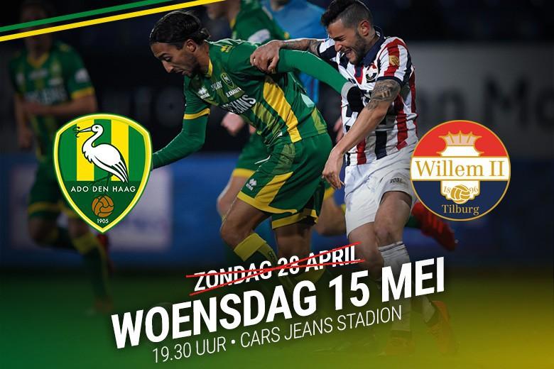 Verschuiving definitief: ADO Den Haag - Willem II op 15 mei
