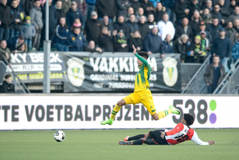 Vakken A, D, E, G, H, O, P, Q, T, U, V, W uitverkocht voor ADO DH - Feyenoord