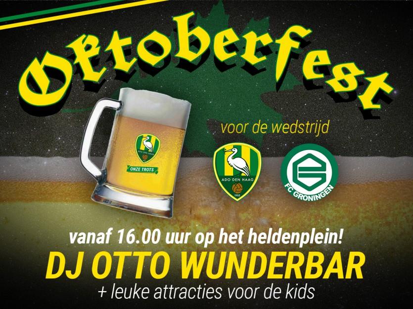 Oktoberfest op Heldenplein voor ADO DH - FC Groningen