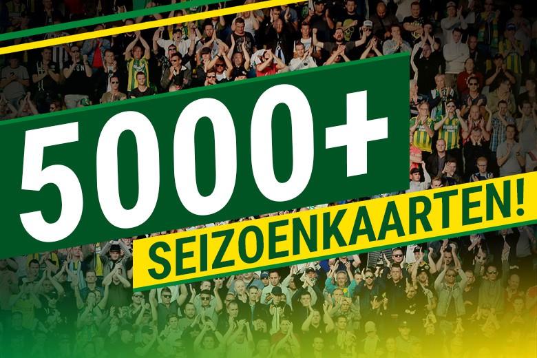 Ruim 5000 seizoenkaarthouders steunen onze club