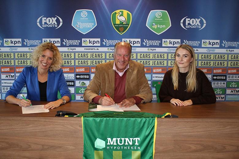 Munt Hypotheken 9 wedstrijden shirtsponsor Ado.